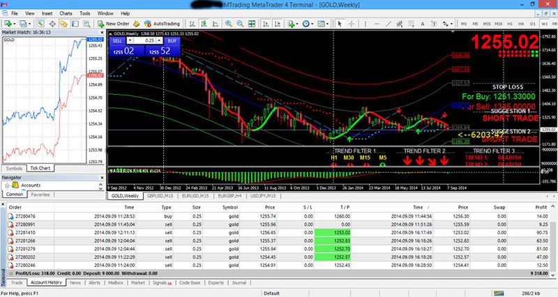 WinTrader Success MetaTrader Platform Screen