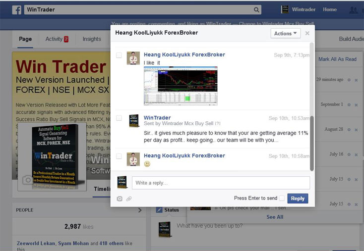 WinTrader Success Stories FB Time Line